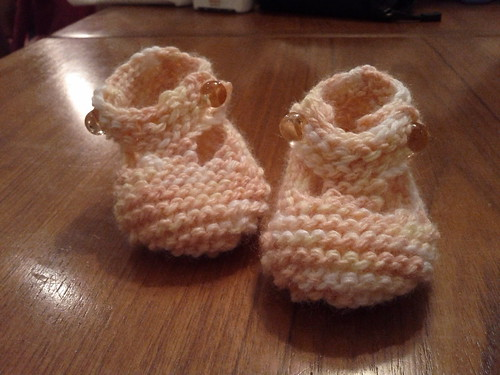 """Too Cute"" baby booties"