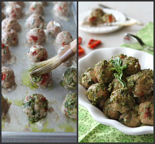 ... Turkey Meatball Recipe with Sun-Dried Tomatoes, Mozzarella & Basil