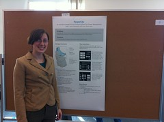 <p>Showing off her research at the 2012 GRC poster session.</p>