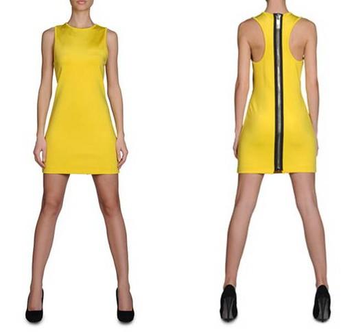 vestido-Bikkembergs-amarillo