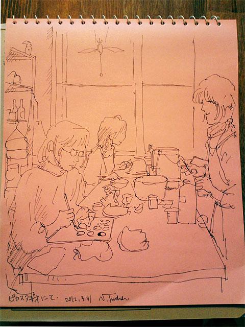 """陶芸工房ピカスタヂオにて in """"hika studio"""" which is the a pottery studio"""