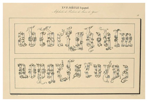 016-Alphabet-Album collection de soixante feuilles d'alphabets historiés 1843- Joseph-Balthazar Silvestre
