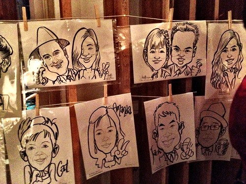 Caricature live sketching for Diageo Singapore Pte Ltd - k