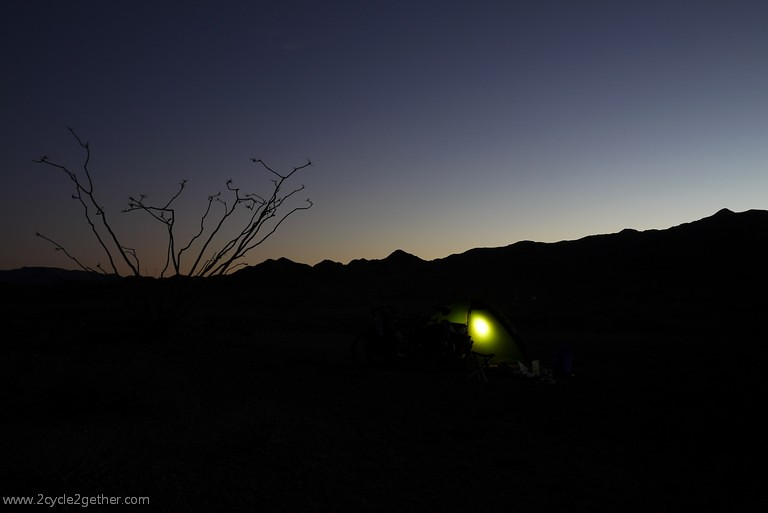 Wild Camp at night, south of San Felipe