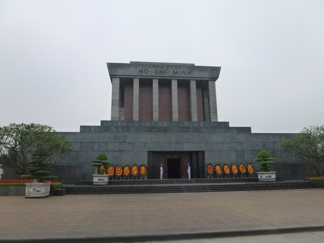 Ho Chi Minh mausoleum where the big man resides