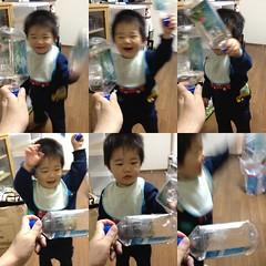 FIJIウォーターでとらちゃんとチャンバラ!(2012/4/5)