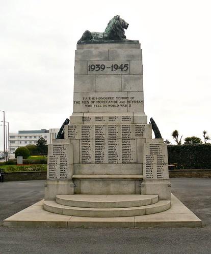 Morecambe War Memorial east side