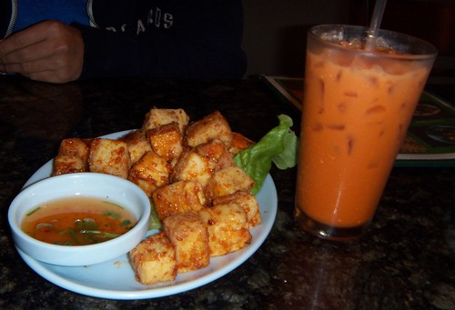 Fried Tofu and Thai Tea