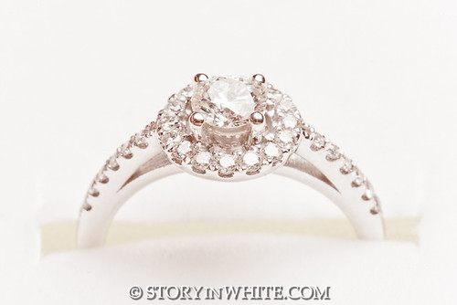 Engagement Ring by Story in White