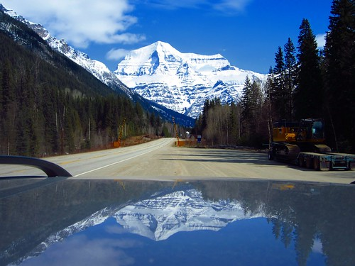 blue trees sky white snow canada mountains clouds reflections highway gallery bc mountrobson 25faves peggyhr heartawards roofofsuv artofimages img6448a mygearandme vivalavidalevel1 thelooklevel1red
