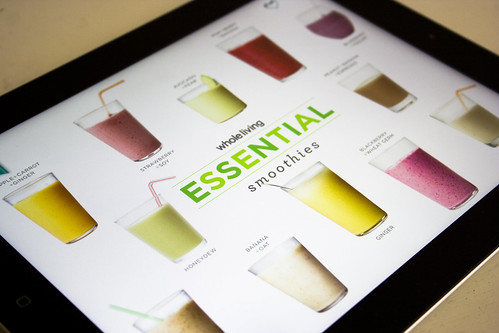 Martha Stewart's Whole Living Smoothies iPad App