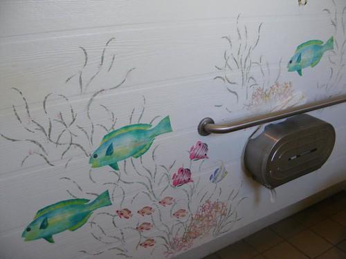 Artsy restroom