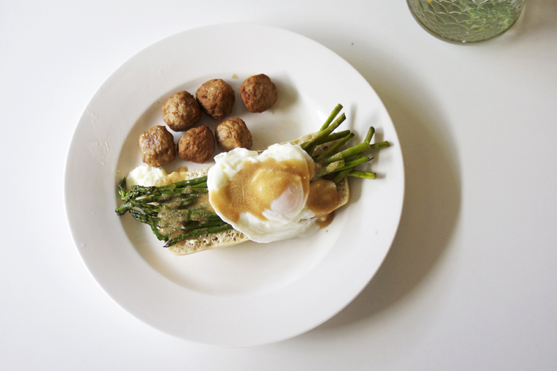 ikea meatballs with fried asparagus | Fooood | Pinterest