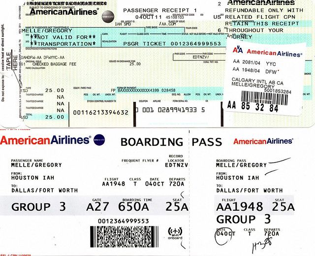 Aa 2011 10 04 American Airlines Boarding Pass Flickr