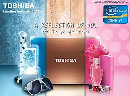 Toshiba's PC Show 2012 promotions for computers in all form factors.