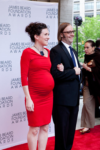 At the Red Carpet: Chef Wylie Dufrense of wd~50, NYC and his wife