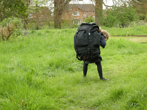 small child and large rucksack