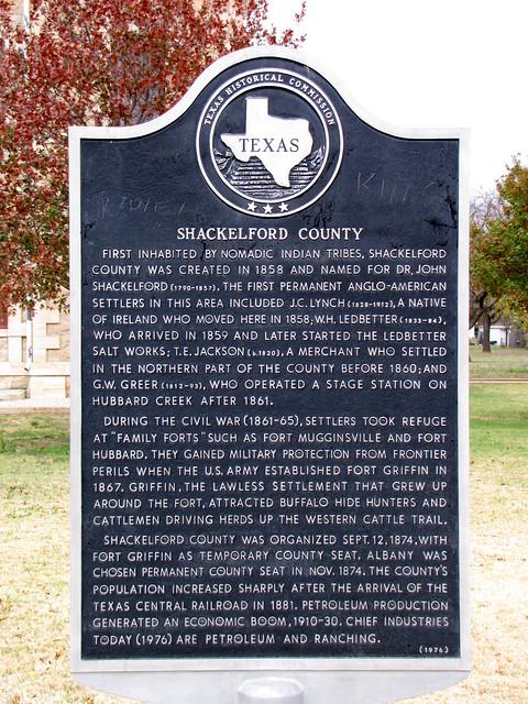 Header of Shackelford County
