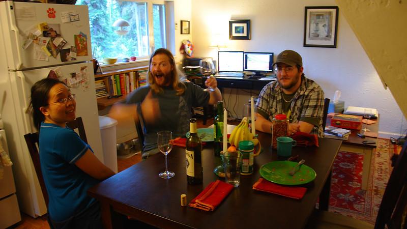 spaghetti and wine night
