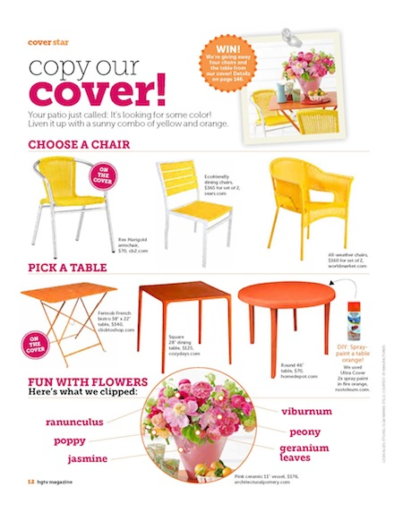Copy Our Cover HGTV June July '12