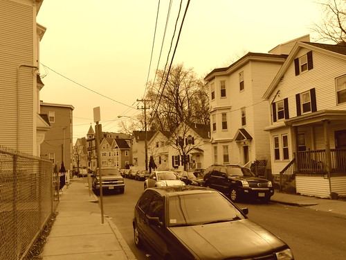 Stony Brook in Boston (sepia)