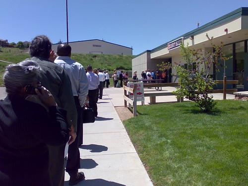 Line for a Job Fair