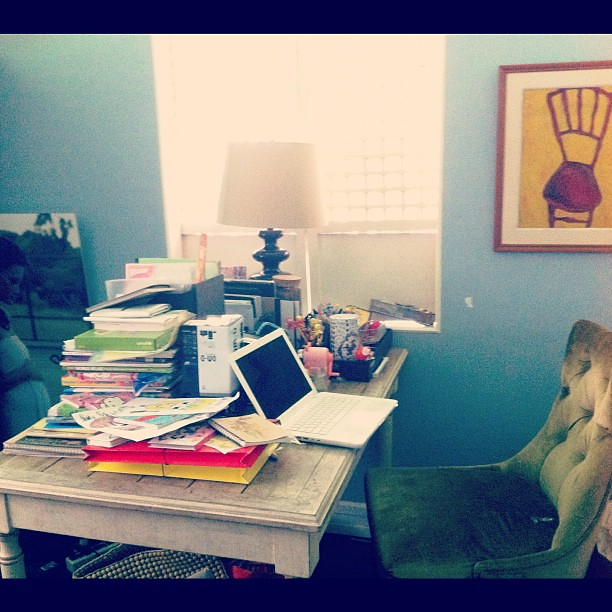 I didn't touch my desk all summer. Clutter has taken over. Help!