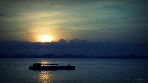 sunrise at Lucap Wharf
