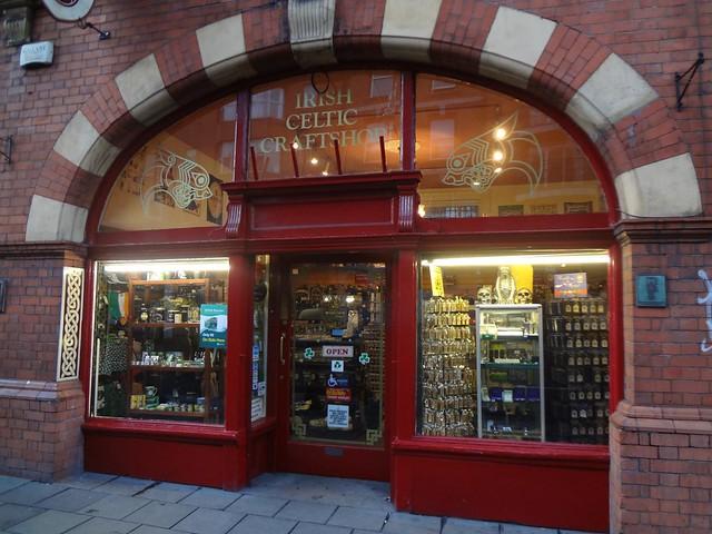 Loja de lembranças, Irish Celtic Craftshop em Dublin Irlanda