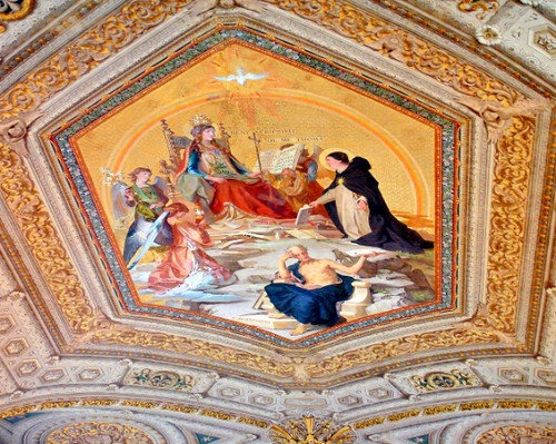 Ceiling art at Vatican Museum, Italy