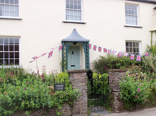Flags at Coombe Leigh