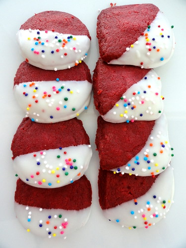 Recipe Test:  Red Velvet Shortbread.