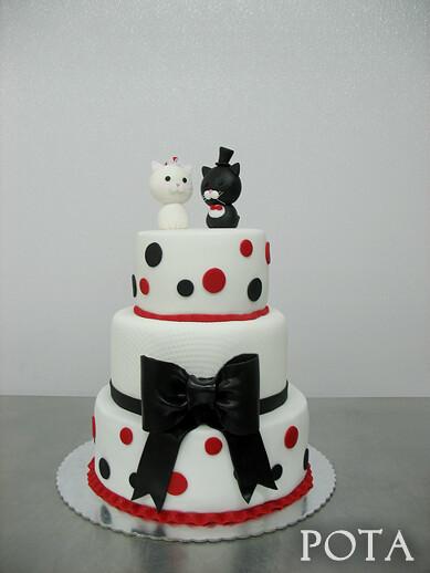 """Gâteau de mariage """"Deux petits chats"""""""