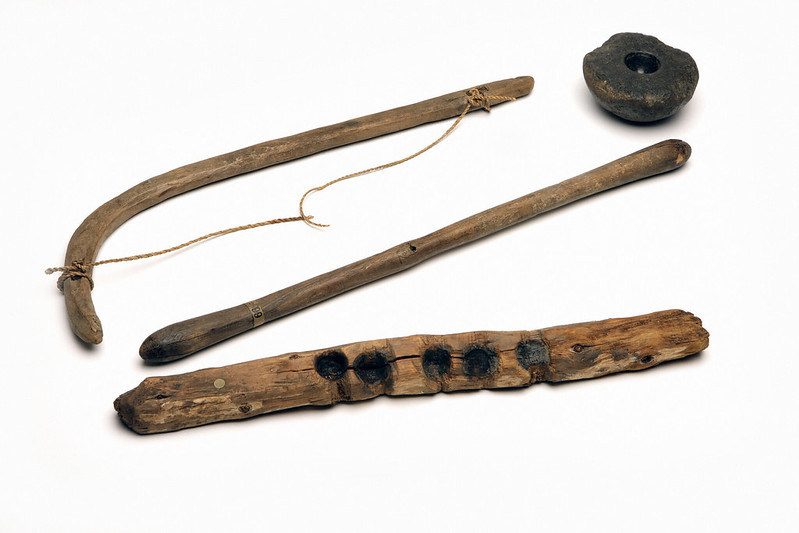 egyptian adze. finally found this great image of an original, ancient egyptian bowdrill for making fire. interesting set...a very long spindle, with slightly odd-looking adze