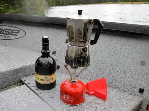 Rain and hot coffee