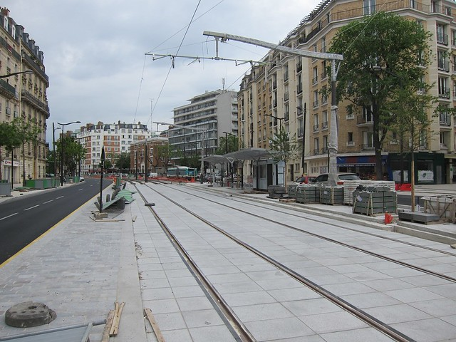 New tram station under construction