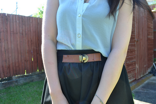 daisybutter - UK Style and Fashion Blog: what i wore, outfit blogger, ootd, topshop sheer shirt, SS12, the pastel trend, zara