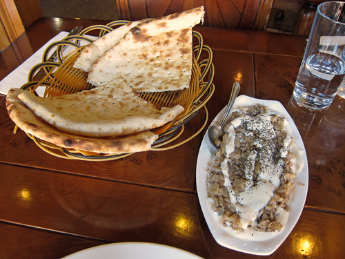 Grill Aubergine and Naan