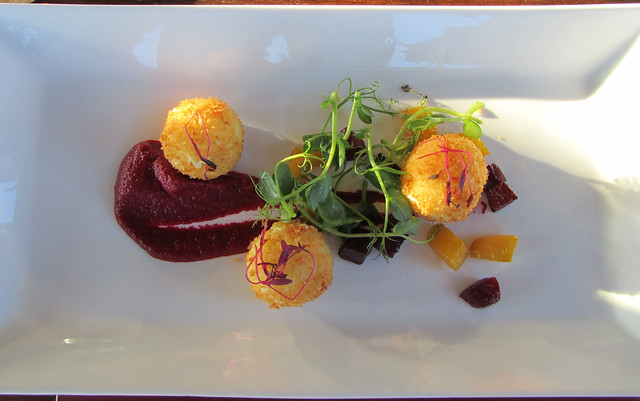 goat cheese and beetroot