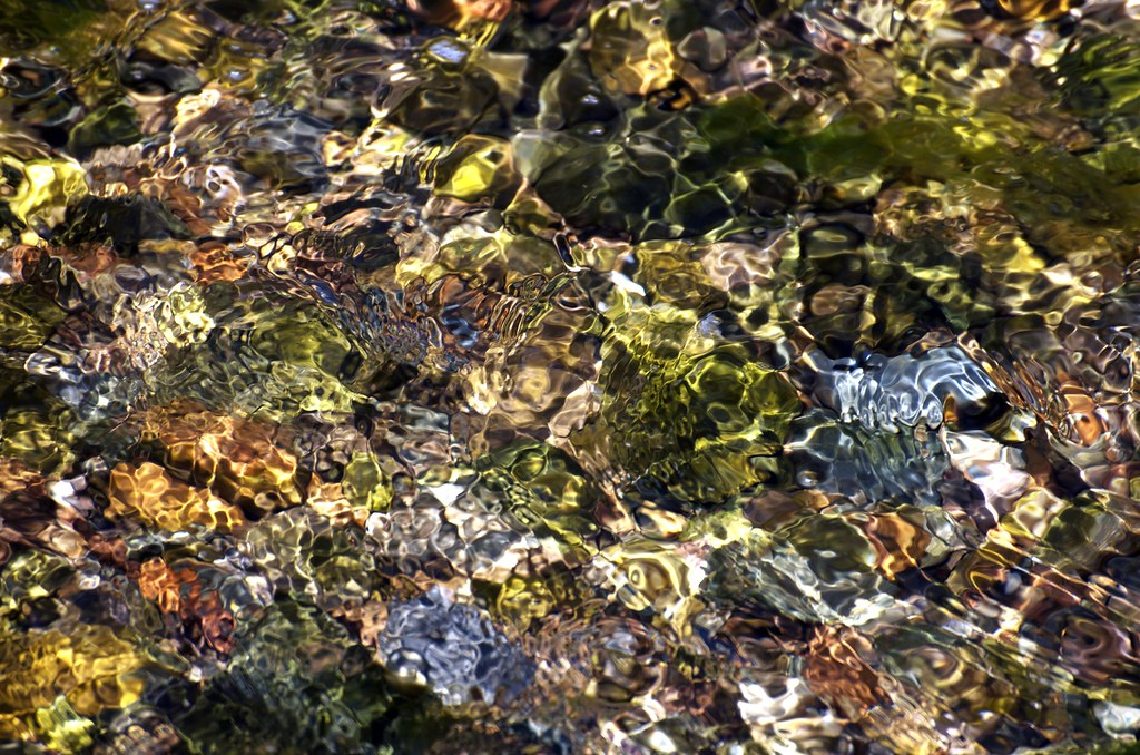 Surface of a Stream on Arran