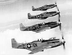 aviation, airplane, propeller driven aircraft, vehicle, north american p-51 mustang, fighter aircraft,