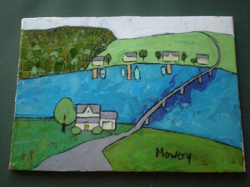 Patuxent River bridge, acrylic, Barbara Mowery 2012