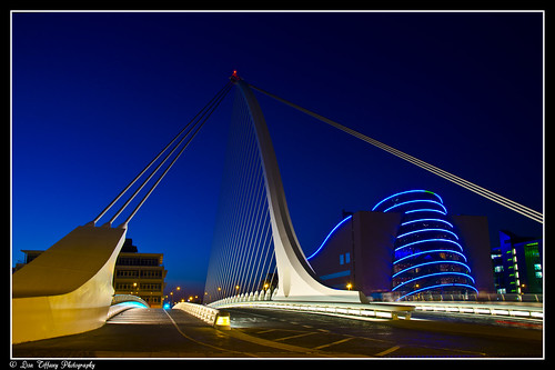 Dublin After Dark (15)  (Samuel Beckett Bridge & The Convention Center)