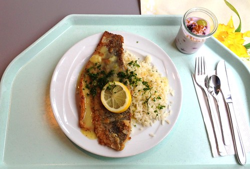 Mariniertes Baramundifilet mit Zitronenpfeffer / Marinated baramundi filet with lemon pepper