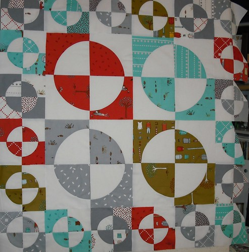 layout for little apples baby quilt