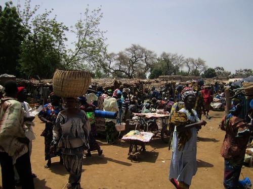 Vista general del mercado de Mougna.