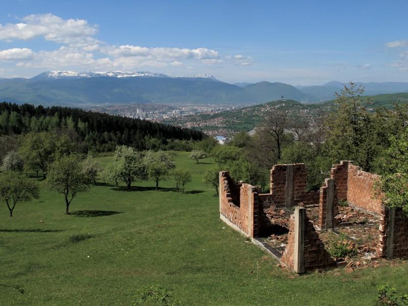 Sur les hauteurs de Sarajevo