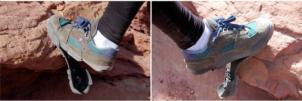 I left my sole(s) at Pectol Pyramid.