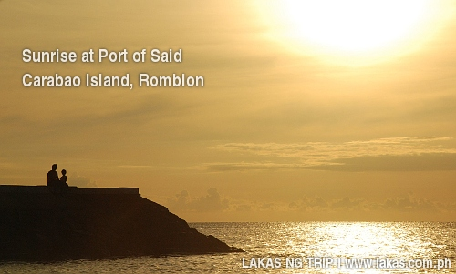 Sunrise by the port of Said, Carabao Island, Romblon