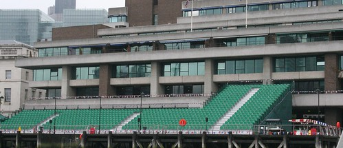 While the embankments were packed, the seats were empty